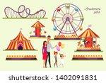 amusement park attractions... | Shutterstock .eps vector #1402091831