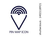 pin location icon vector...