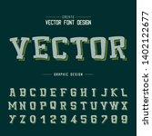 line cartoon font shadow and... | Shutterstock .eps vector #1402122677