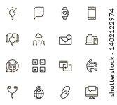 online consultation ine icon... | Shutterstock .eps vector #1402122974