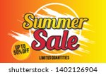 summer sale template banner. ... | Shutterstock .eps vector #1402126904