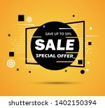 super sale and special offer....   Shutterstock .eps vector #1402150394