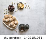 eid and ramadan dates sweets  ... | Shutterstock . vector #1402151051