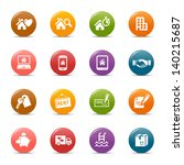 colored dots   real estate icons | Shutterstock .eps vector #140215687