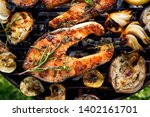 grilled fish  grilled salmon... | Shutterstock . vector #1402161701