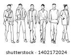 stylish handsome mans in... | Shutterstock .eps vector #1402172024