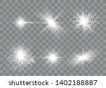 glow light effect. sun flash... | Shutterstock .eps vector #1402188887