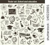 school and education doodles... | Shutterstock .eps vector #140220001