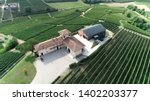 aerial photo of winemaker farm | Shutterstock . vector #1402203377