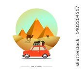 travel by car. road trip. time... | Shutterstock .eps vector #1402204517