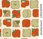 seamless pattern with fruits on ... | Shutterstock .eps vector #140220559