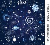 space galaxy constellation... | Shutterstock .eps vector #1402214837