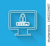 white monitor with password... | Shutterstock .eps vector #1402215407