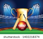 illustration of stadium of... | Shutterstock .eps vector #1402218374
