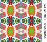 tibetan fabric. abstract ikat... | Shutterstock . vector #1402221191