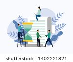 time management  schedule... | Shutterstock .eps vector #1402221821