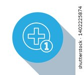flat blue circle illustration...   Shutterstock .eps vector #1402225874