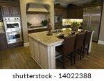 modern luxury home kitchen. | Shutterstock . vector #14022388