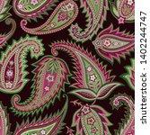 seamless paisley pattern.... | Shutterstock .eps vector #1402244747