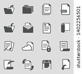 documents icons. sticker design.... | Shutterstock .eps vector #1402256501
