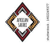 african pattern logo element... | Shutterstock .eps vector #1402269377