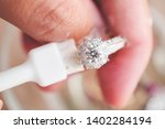 jeweller hand cleaning and... | Shutterstock . vector #1402284194