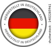 made in germany flag icon   Shutterstock .eps vector #1402285961