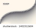 hexagon shapes vector abstract... | Shutterstock .eps vector #1402312604