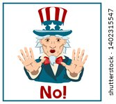 uncle sam with a frightened... | Shutterstock .eps vector #1402315547