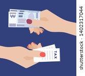 paying money. women hand... | Shutterstock .eps vector #1402317044