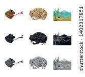 vector design of wildlife and... | Shutterstock .eps vector #1402317851