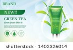 facial foam with leaves in...   Shutterstock .eps vector #1402326014