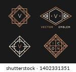 vector logo design templates... | Shutterstock .eps vector #1402331351