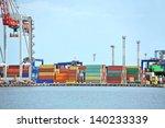 port cargo crane and container... | Shutterstock . vector #140233339