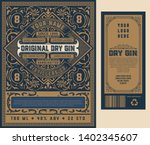 old gin label for packing  ... | Shutterstock .eps vector #1402345607