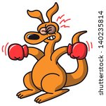 a kangaroo with a very ugly... | Shutterstock .eps vector #140235814