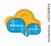 dialog balloon icon with a... | Shutterstock .eps vector #1402360814