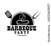 bbq hot grill logo  ideas | Shutterstock .eps vector #1402363907