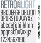 Retro triple line rounded bold font, light version, patterned old style alphabet. Best for use as a headlines in advertising, stylish retro art, graphic designs, posters and web design. Vector.