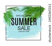 summer sale concept background. ... | Shutterstock .eps vector #1402365311