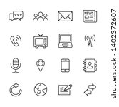 communication line icon set 4 ... | Shutterstock .eps vector #1402372607