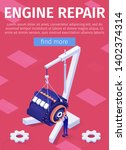 engine repair service online... | Shutterstock .eps vector #1402374314