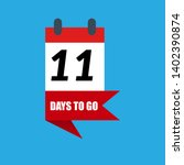 11 days to go sign. can be use...