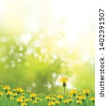 vector   spring background with ... | Shutterstock .eps vector #1402391507