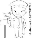 easy coloring cartoon vector...   Shutterstock .eps vector #1402401941