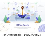 businessman with laptop in... | Shutterstock .eps vector #1402404527