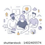 brainstorming and problem... | Shutterstock .eps vector #1402405574