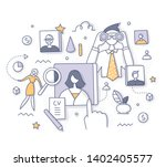 human resources and recruitment ...   Shutterstock .eps vector #1402405577