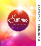 vector summer background | Shutterstock .eps vector #140241985