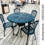 Old Fashioned Cafe Terrace Wit...
